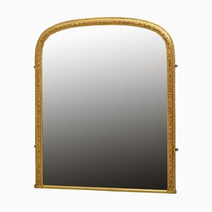 Antique Victorian Giltwood Wall Mirror, 1880s