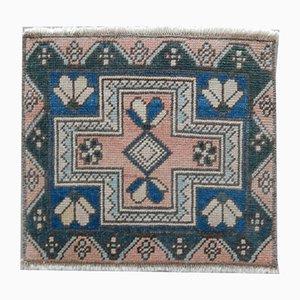 Alfombra Oushak vintage geométrica, años 70