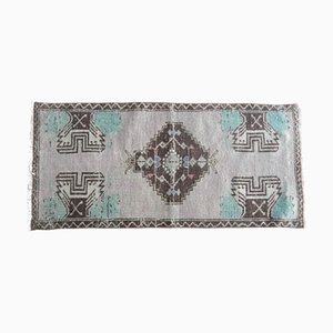 Small Vintage Turkish Handmade Cappadocia Medallion Rug