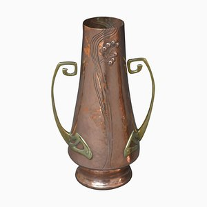 Art Nouveau Copper Vases, 1900s, Set of 2