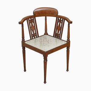 Antique Edwardian Mahogany Corner Chair, 1900s