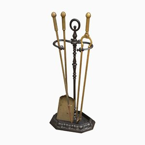 Antique French Cast Iron Fire Irons Stand or Umbrella Stand
