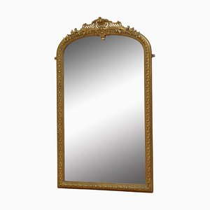 Antique French Gilt Pier Mirror, 1880s