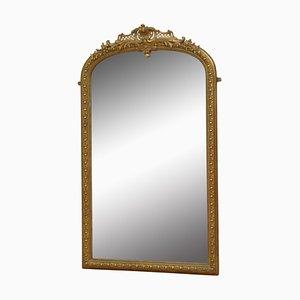 Espejo francés antiguo dorado, década de 1880