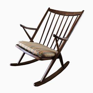 Rocking Chair Mid-Century en Teck par Frank Reenskaug pour Bramin, Danemark