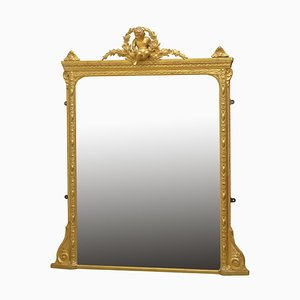 Antique Late Victorian Giltwood Mantel Mirror