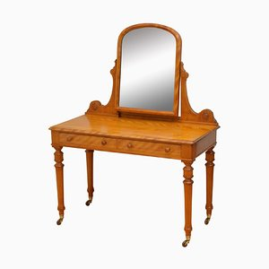 Victorian Satinwood Dressing Table, 1870s