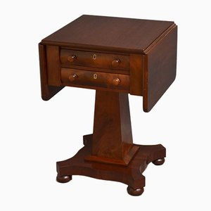 Antique William IV Low Mahogany Writing Table