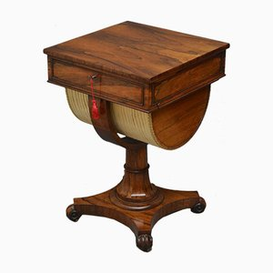 Antique William IV Rosewood Sewing Table