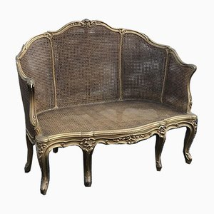 Antique French Gilt Wood Settee