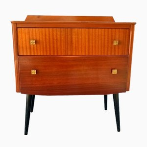 Vintage Brown Veneered Wood Dresser, 1960s