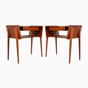 Mid-Century Scandinavian Teak Nightstands, 1950s, Set of 2