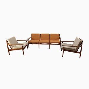 Set da salotto in teak di Svend Åge Eriksen per Glostrup, anni '60