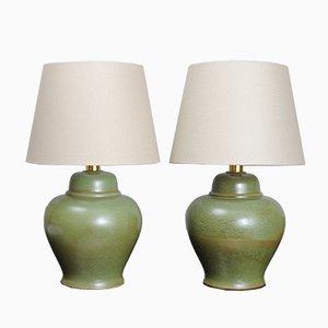 Lámparas de mesa vintage de cerámica de PAF Studio, años 70. Juego de 2