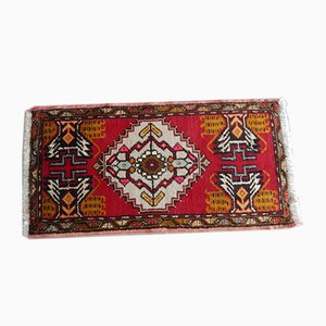 Small Turkish Hand-Knotted Distressed Rug, 1970s