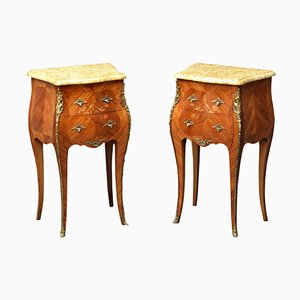 Vintage French Bedside Cabinets, 1930s, Set of 2