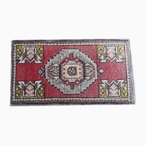 Kleiner handgefertigter türkischer Teppich, 1970er