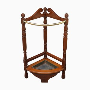 Antique Arts & Crafts Mahogany Umbrella Stand, 1900s