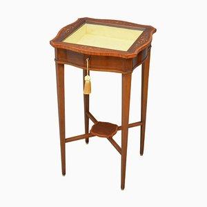 Table Vitrine Antique en Acajou d'Edwards & Roberts, 1900s