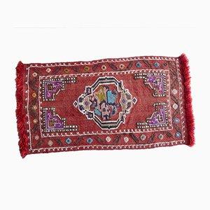 Handgewebter türkischer Kelim Teppich in Pastellfarben, 1970er