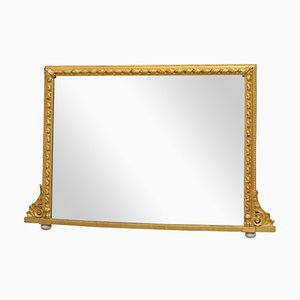 Antique Victorian Giltwood Wall Mirror, 1890s