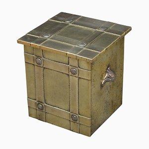 Antiker Arts and Crafts Kohlenbehälter, 1900er