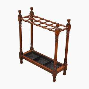 Arts & Crafts Mahogany Umbrella Stand, 1890s