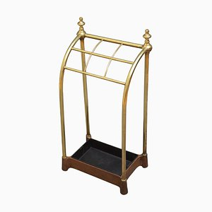 Late Victorian Brass Umbrella Stand, 1880s