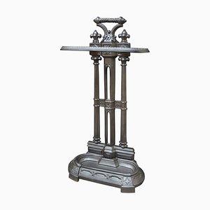 Paragüero victoriano de hierro fundido, década de 1870