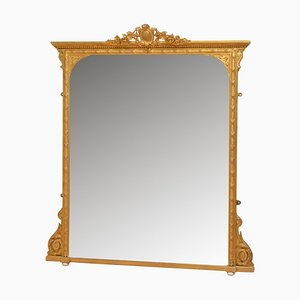 Victorian Giltwood Overmantel Mirror, 1880s