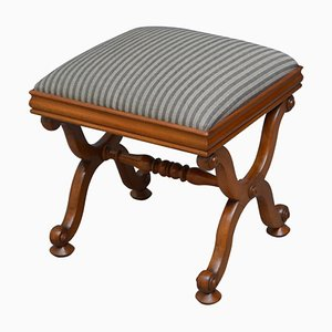 Early Victorian Mahogany Dressing Table Stool, 1850s