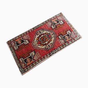 Handgeknüpfter türkischer Teppich mit niedrigem Flor, 1970er