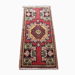 Small Low Pile Hand Knotted Rug, 1970s