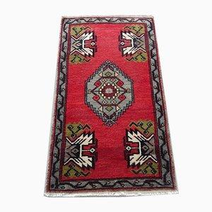 Türkischer Vintage Teppich mit niedrigem Flor, 1970er