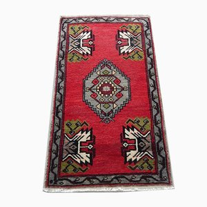 Vintage Turkish Low Pile Rug, 1970s