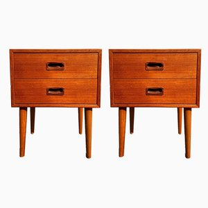 Mid-Century Teak Nightstands, 1960s, Set of 2