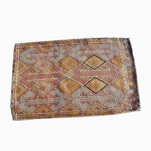 Kleiner türkischer Cicim Teppich mit geometrischem Muster, 1970er