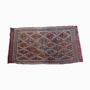 Small Turkish Diamond Patterned Mat, 1970s