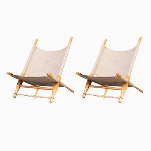 Lounge Chairs by Ole Gjerløv-Knudsen & Torben Lind for Cado, 1960s, Set of 2
