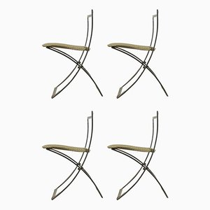 Italian Folding Chairs by Marcello Cuneo for Mobel, 1970s, Set of 4