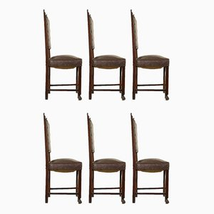 Italian Renaissance Style Dining Chairs, Set of 6