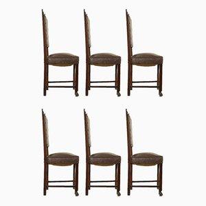 Italian Renaissance Style Dining Chairs, Set of 6