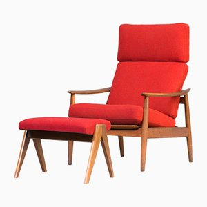 Easy Chair & Footrest Set by Arne Vodder for France & Søn, 1960s