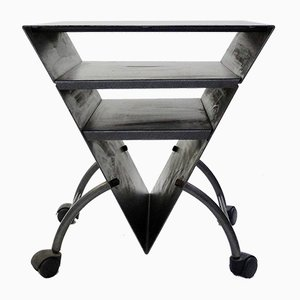 Vintage Triangular Metal Side Table