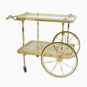 Vintage Brass Bar Cart, 1970s
