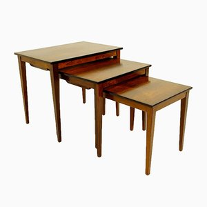 Mid-Century Danish Modern Rosewood Nesting Tables from Kvalitet Form Funktion,1960s