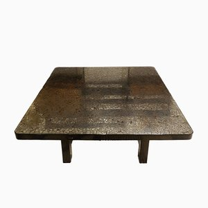 Vintage Hematite Topped Table by Ado Chale, 1980s