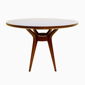 Round Italian Blue Formica Dining Table, 1950s