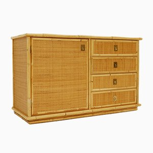 Bamboo, Wicker, and Rattan Cabinet from Dal Vera, 1960s