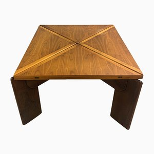 Walnut Extended Square Dining Table by Silvio Coppola, 1960s